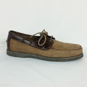 Sperry Top Sider 9M Brown Suede Boat Shoe S9-10